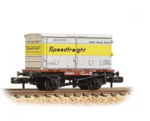 37-990 Bachmann Conflat with BA Standard Container Speedfreight