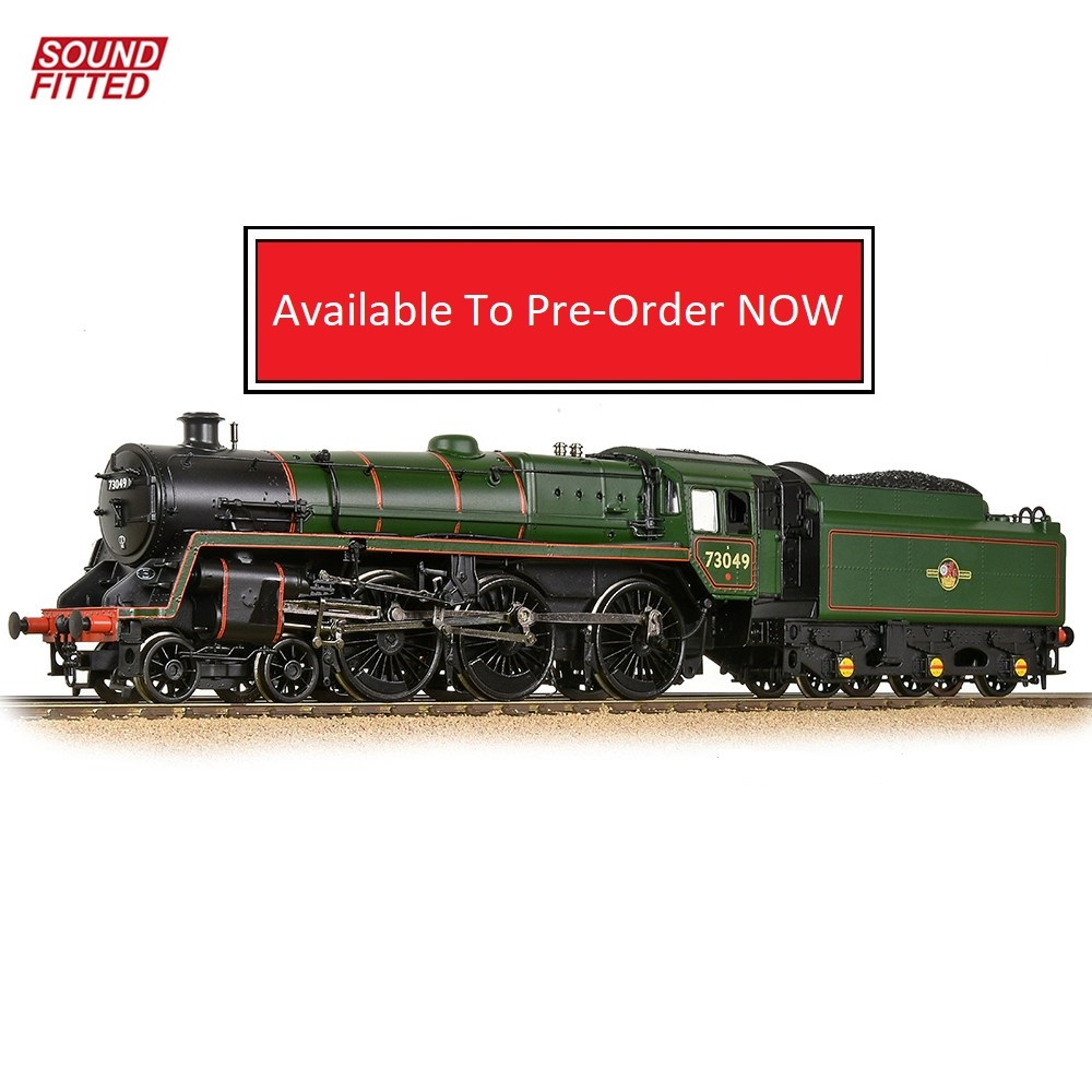 372-728SF-Graham Farish-BR Standard 5MT BR1 Tender 73049 BR Lined Green Late Crest Sound