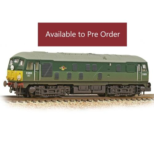 372-979A-Graham Farish-Class 24/0 D5053 BR Two-Tone Green Sm Yellow Panels W