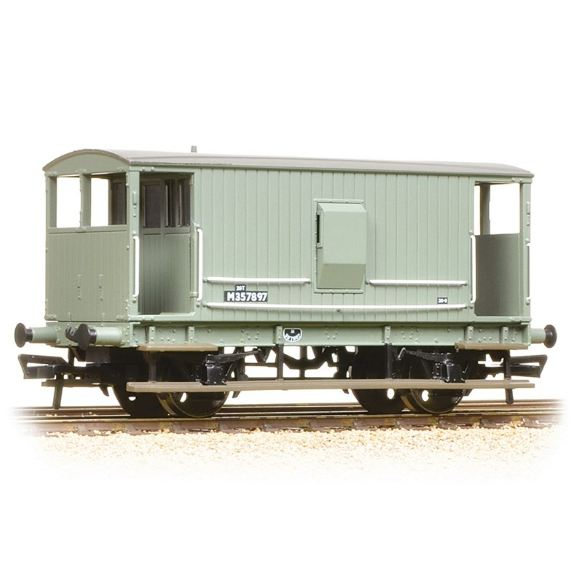 38-550A Bachmann Midland 20T Brake Van BR Grey (with Duckets)