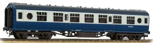 39-452 Bachmann LMS 57ft Porthole 2nd Corridor BR Blue/Grey