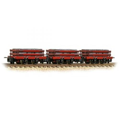393-076-Bachmann-Slate Wagons 3-Pack Red with Slate Load Includes Wagon Load