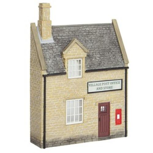 44-296 Bachmann Low Relief Honey Stone Post Office and Shop