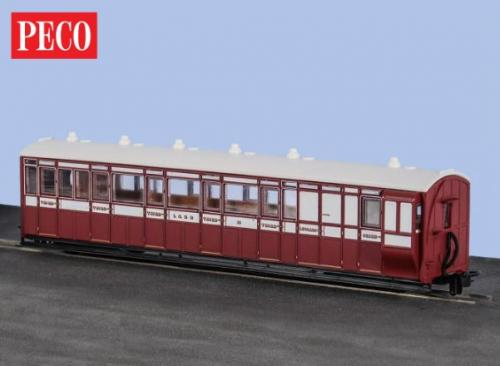 GR-420 Peco Brake Composite Coach Indian Red
