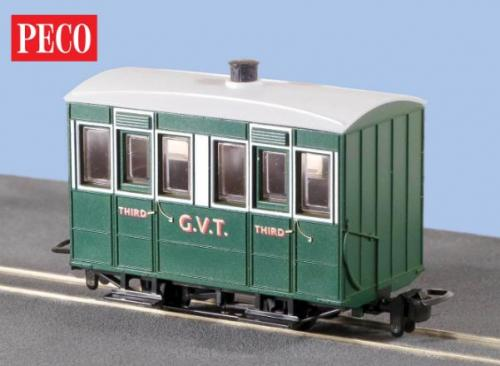 GR-500 Peco Glyn Valley Enclosed 3rd Class Coach