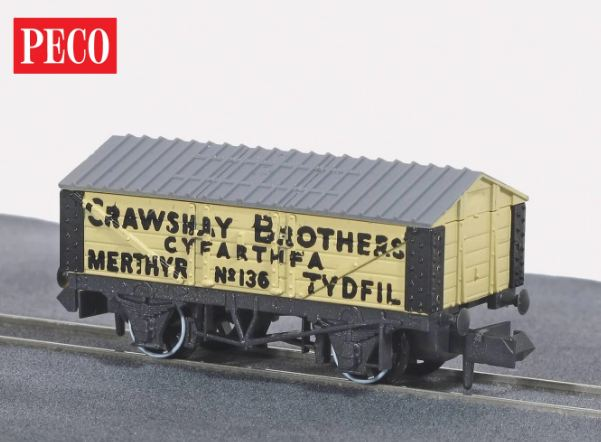 NR-P112 Peco Crawshay Brothers Lime Wagon with Roof