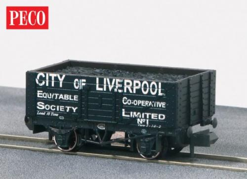 NR-P419 Peco City of Liverpool 7 Plank Wagon No.1