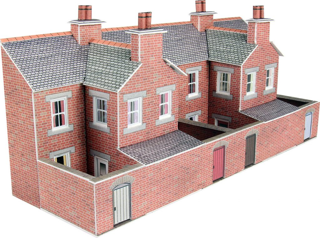 PN176 Metcalfe Low Relief Terraced House Backs Brick