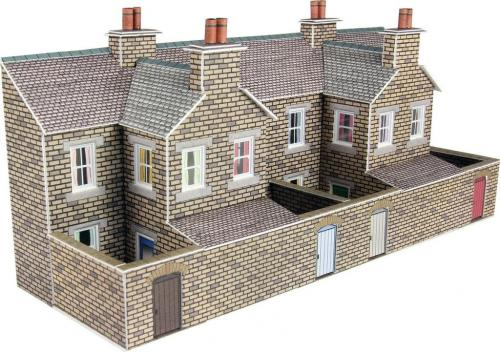 PN177 Metcalfe Low Relief Terraced House Backs Stone