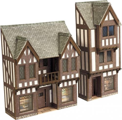 PN190 Metcalfe N Scale Low Relief Timber Framed Shops