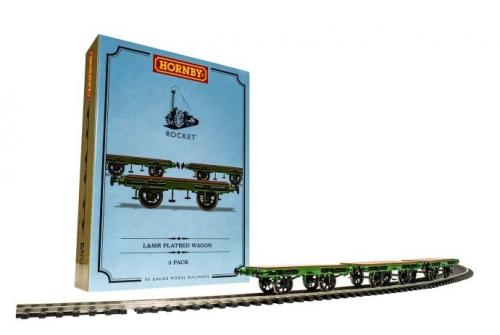 R60014 Hornby L&MR, Flat Bed Wagon Pack - Era 1