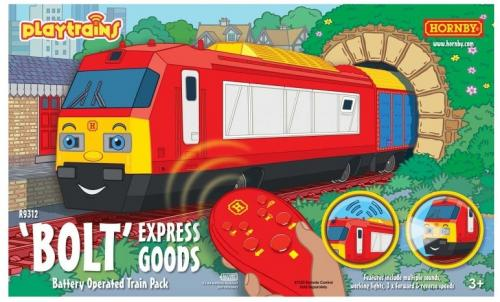 R9312 Hornby Bolt Express Goods Battery Operated Train Pack