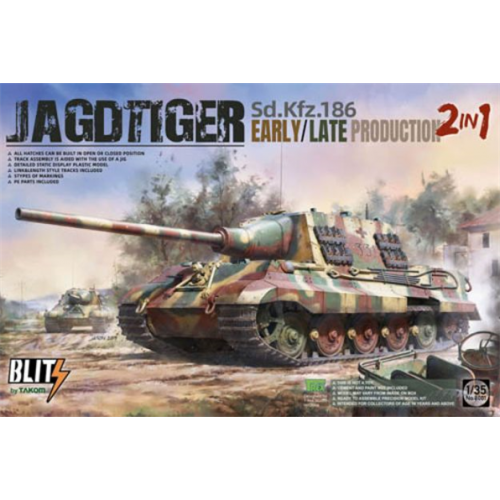 TAK 08001Sdkfz186 Jagdtiger Early/Late Production 2 in 1 kit